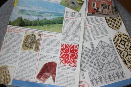 Pattern -pages from a magazine 1985